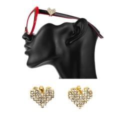 Украшение на очки, Клипса №1 Сердце, Золотистый