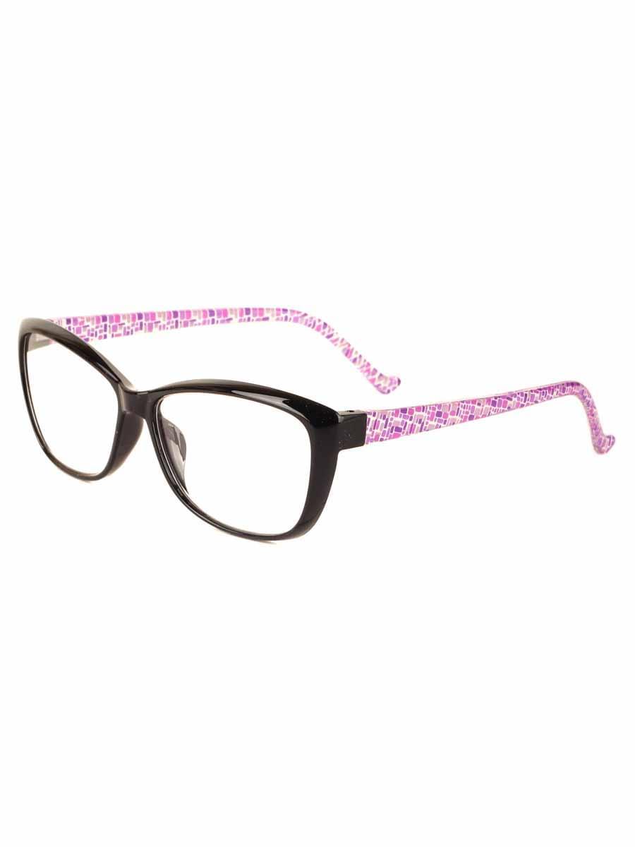 Готовые очки Oscar 2064 Черные-Сиреневые, Не годен (-9.50)