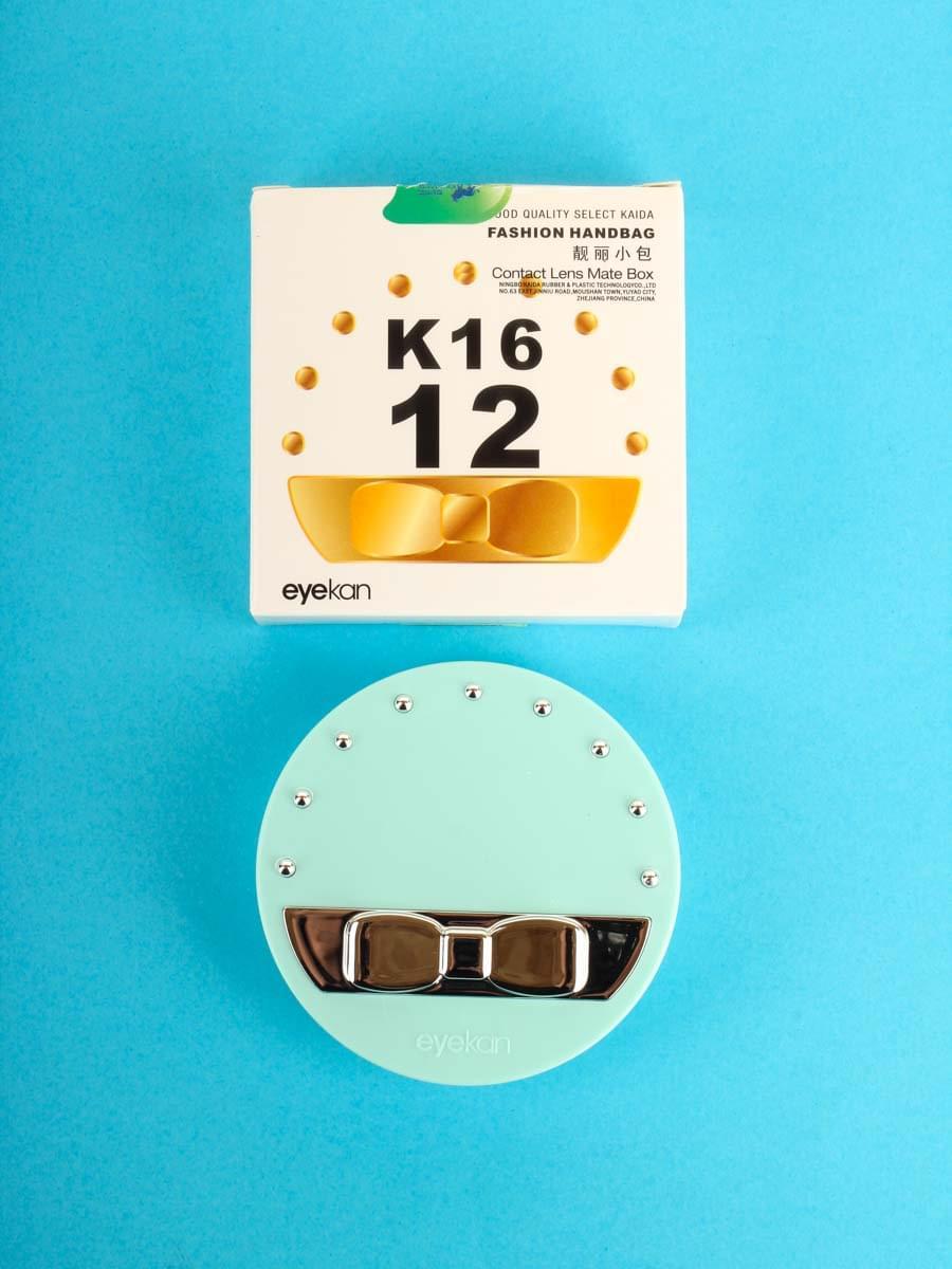 Контейнеры для контактных линз K1612 Бирюзовый
