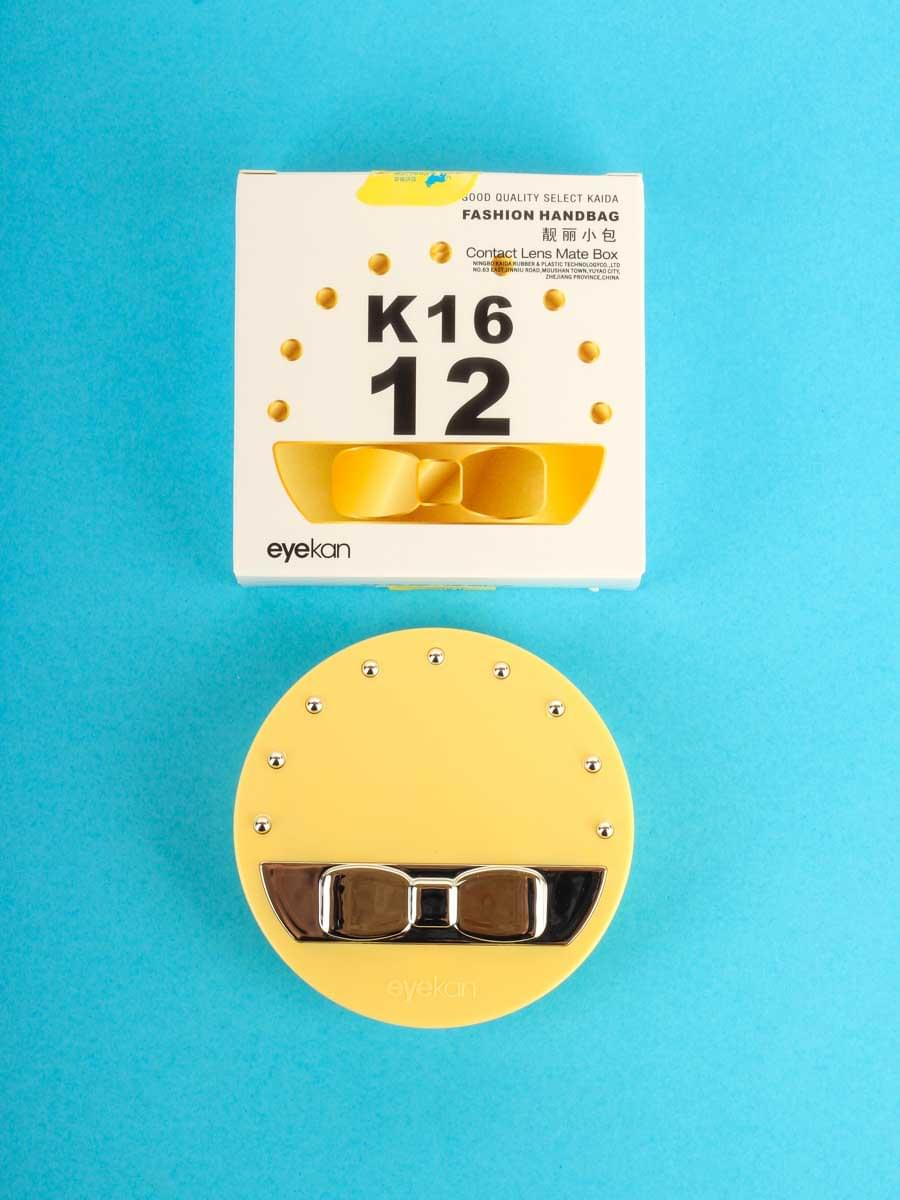 Контейнеры для контактных линз K1612 Желтый
