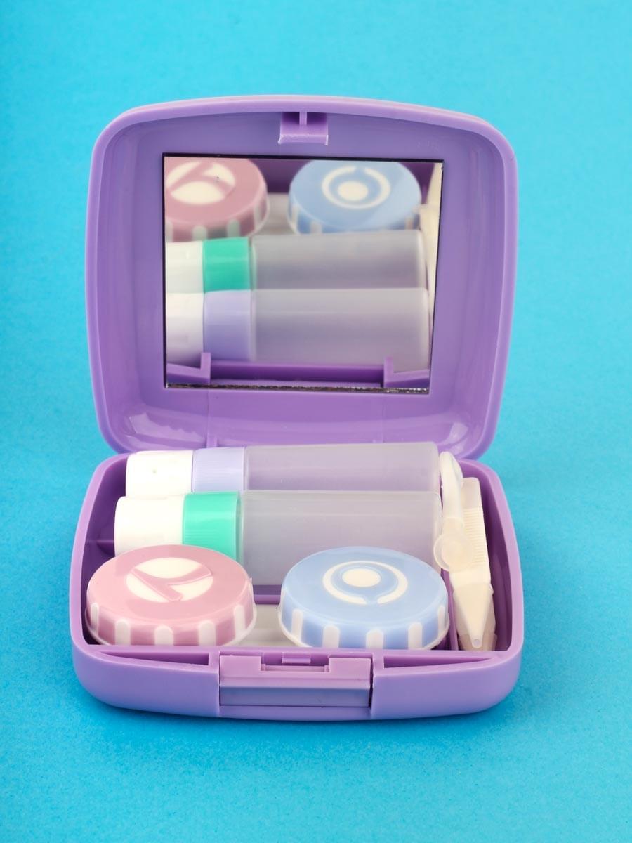 Контейнеры для контактных линз A-877 Фиолетовые