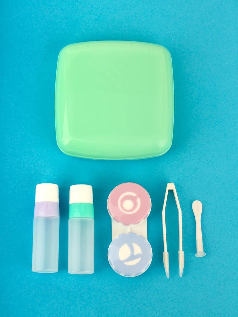 Контейнеры для контактных линз A-877 Зеленый