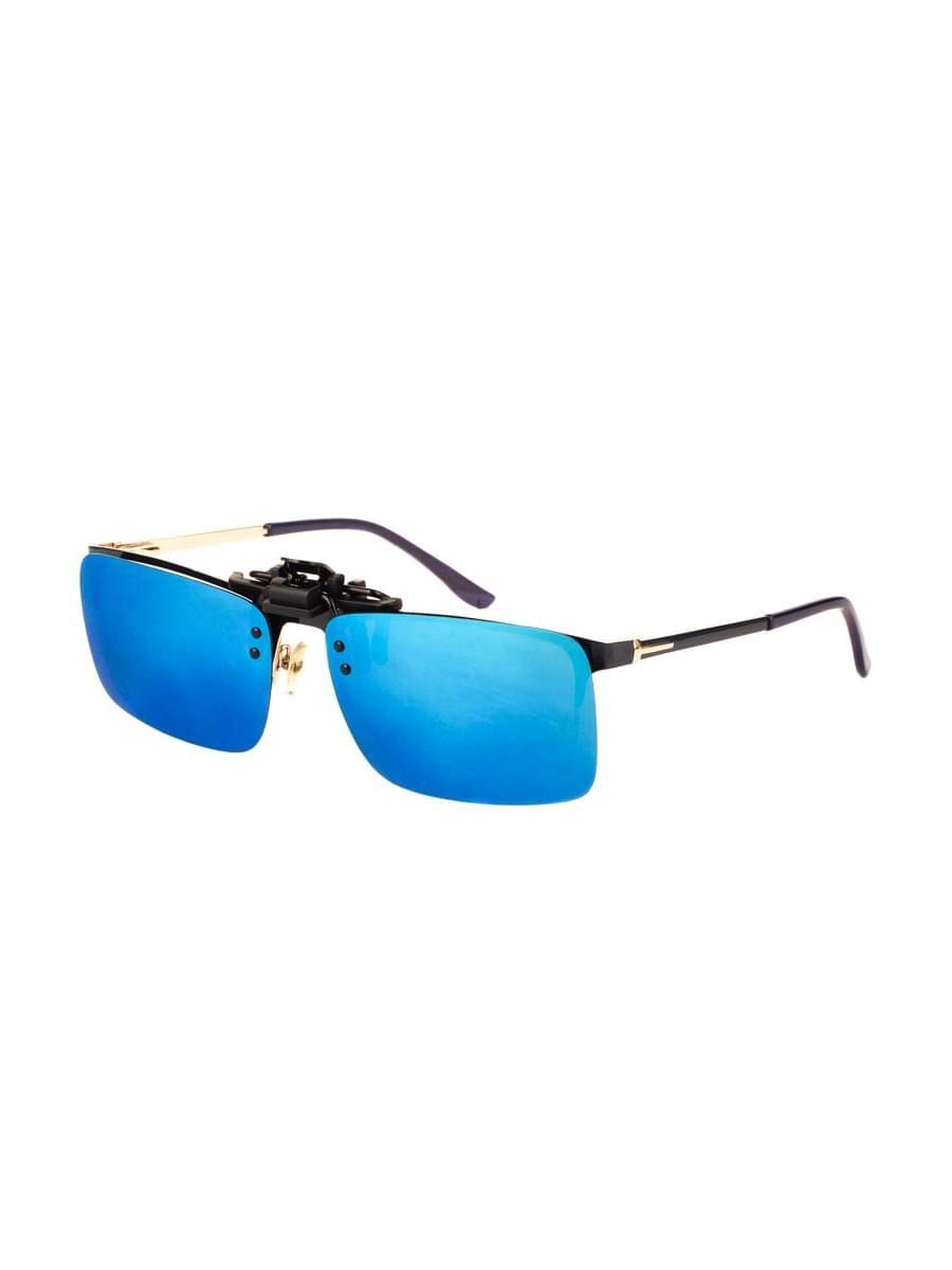 Насадки на очки в упаковке H4.0 Голубые зеркальные