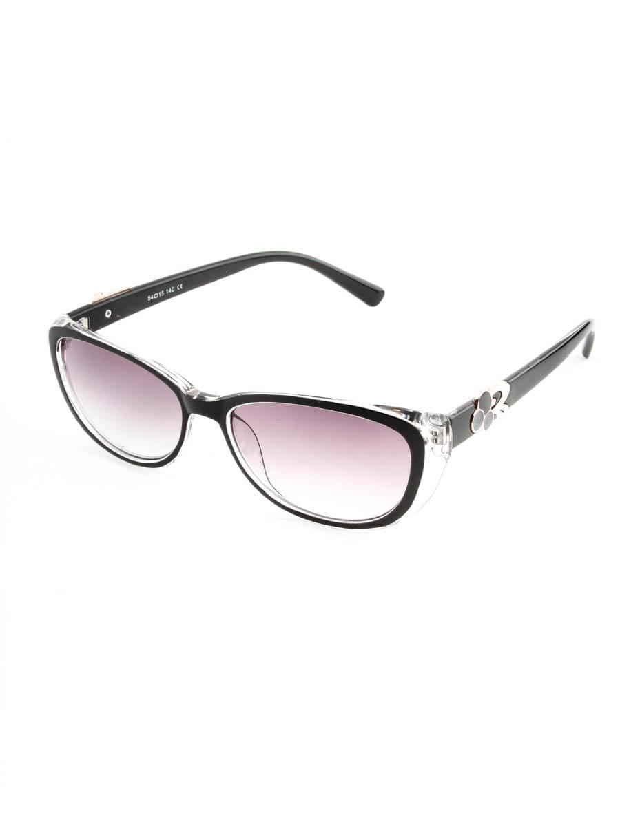 Готовые очки FARSI 2828 черный тонированные (-9.50)