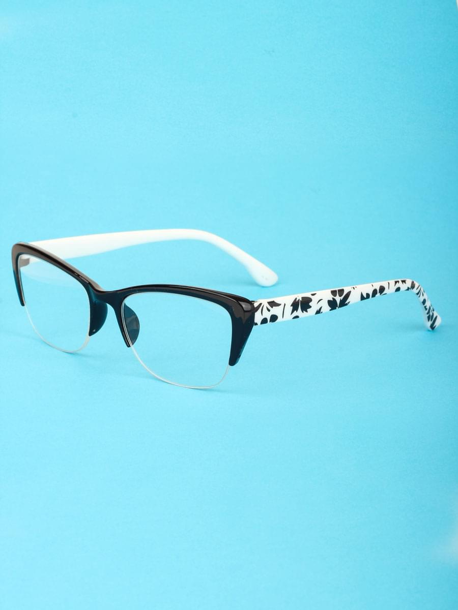 Готовые очки BOSHI 86026 Черные Белые (-9.50)