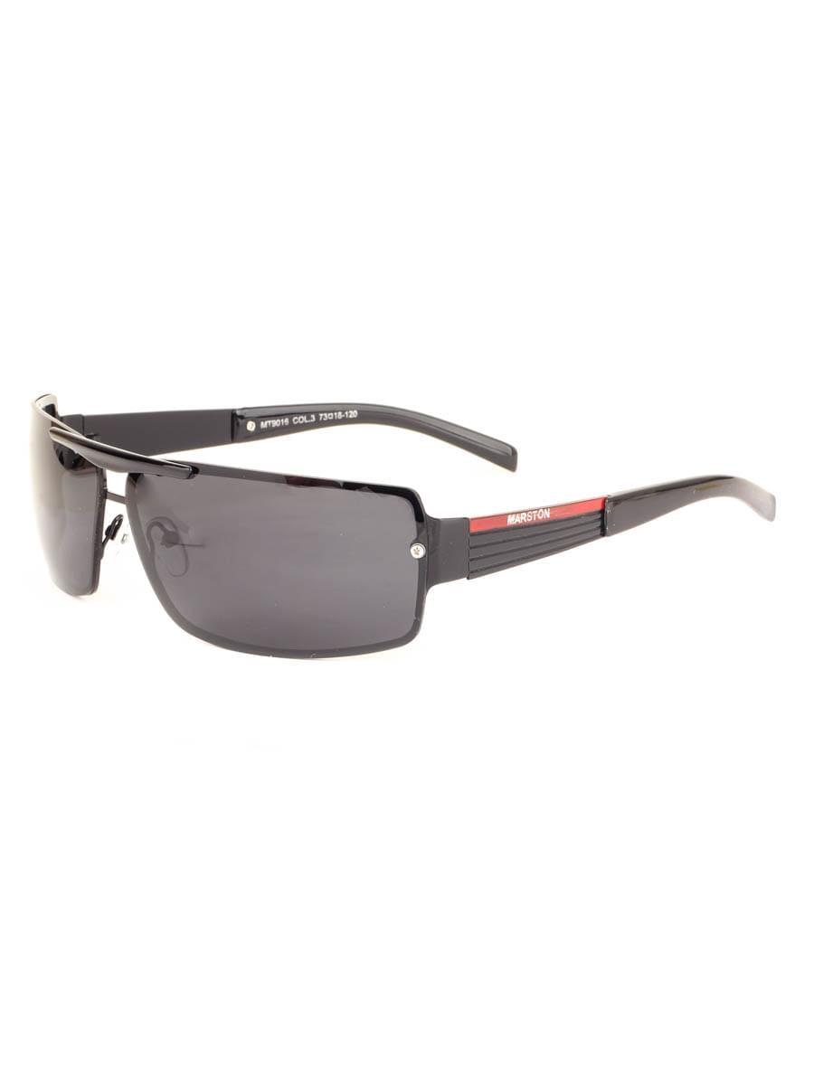 Солнцезащитные очки MARSTON 9016 Черные Глянцевые