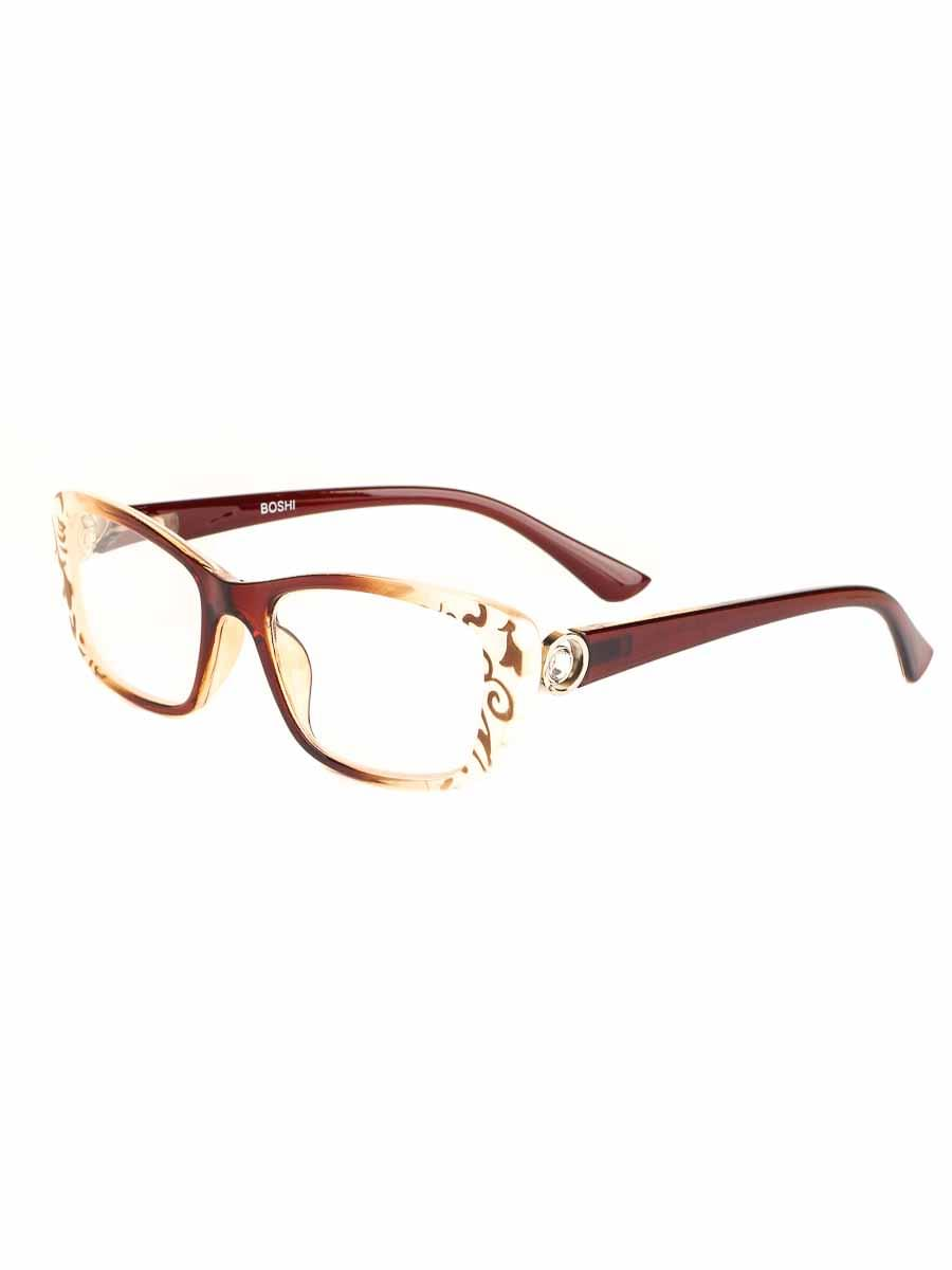 Готовые очки BOSHI 85017 Коричневые-Белые (-9.50)