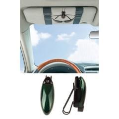 Держатель зажим для очков автомобильный Зеленый