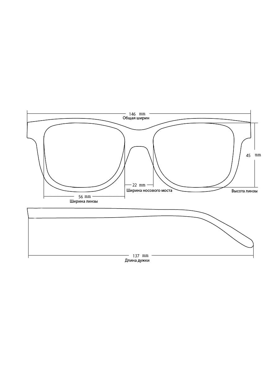 Солнцезащитные очки AOLISE 4318 C320-90-1 линзы поляризационные