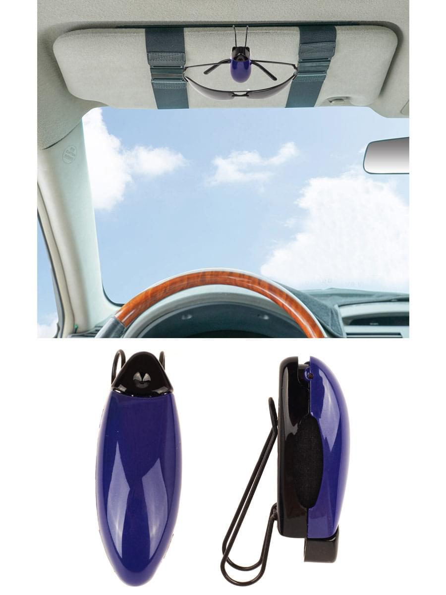 Держатель зажим для очков автомобильный Темно-синий