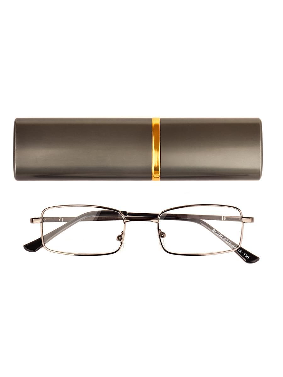 Готовые очки BOSHI A006 Серые (Ручка широкая) (-9.50)