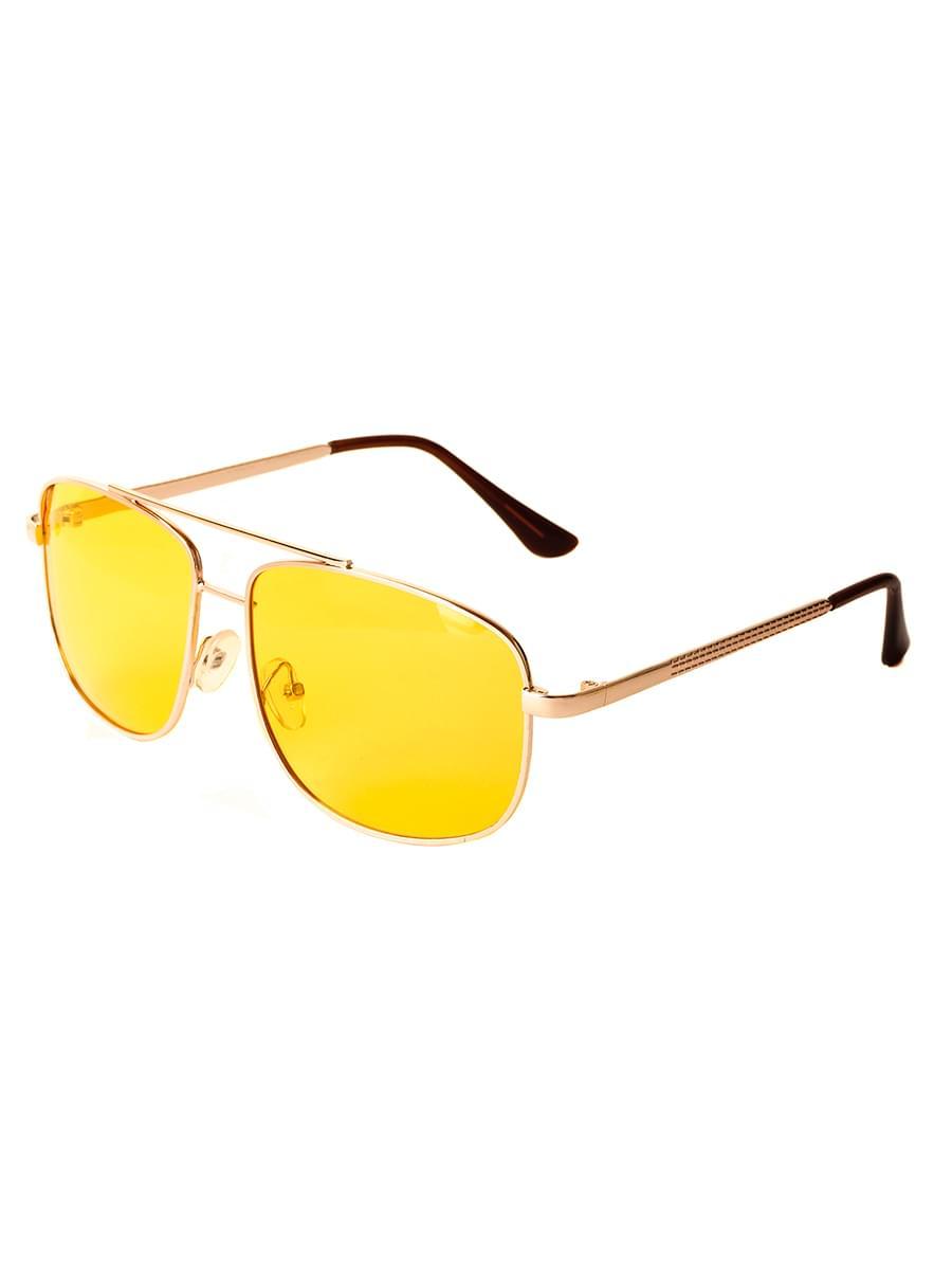 Очки для водителей антифары M28017 Золотистые