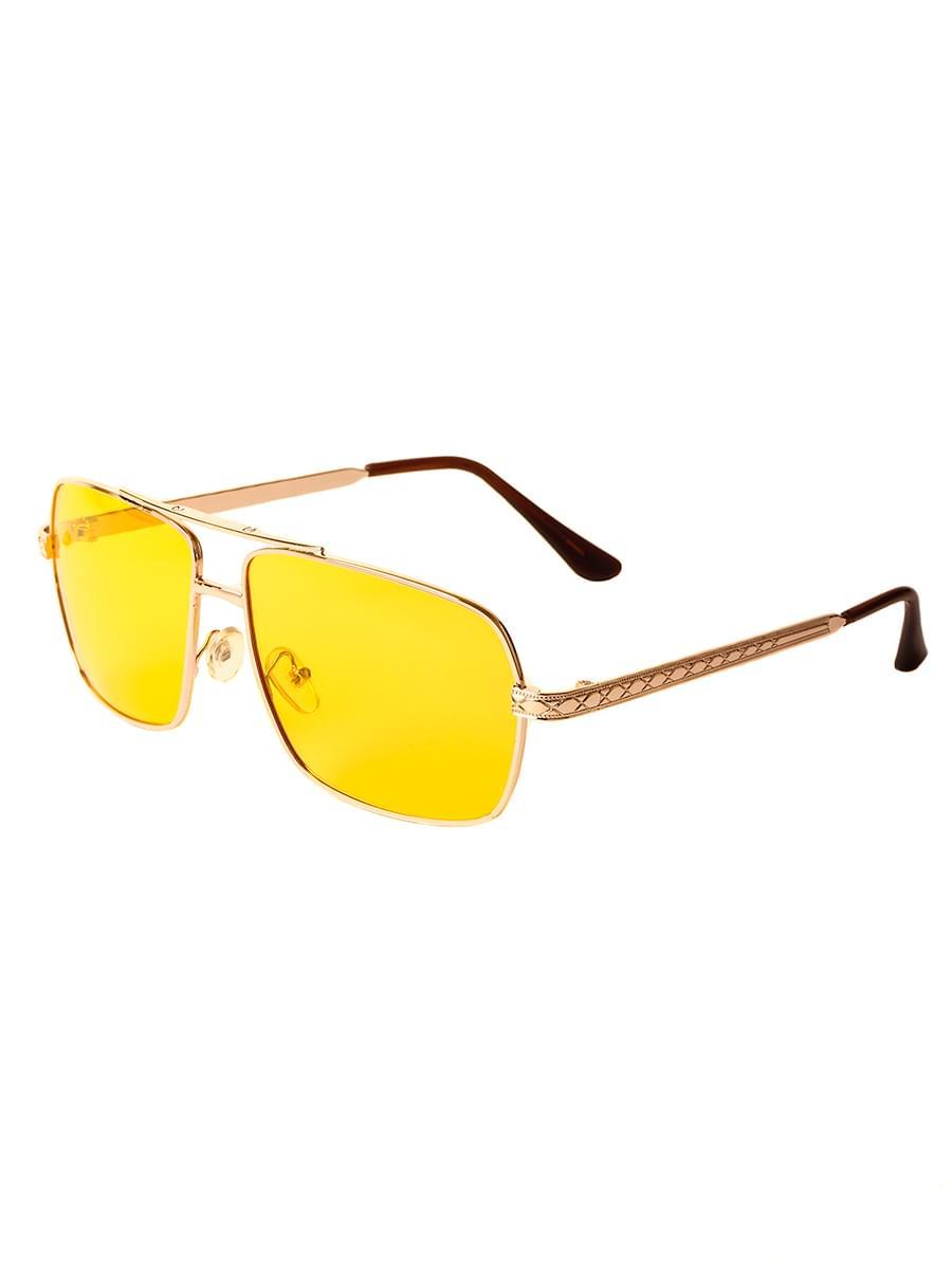 Очки для водителей антифары M28019 Золотистые