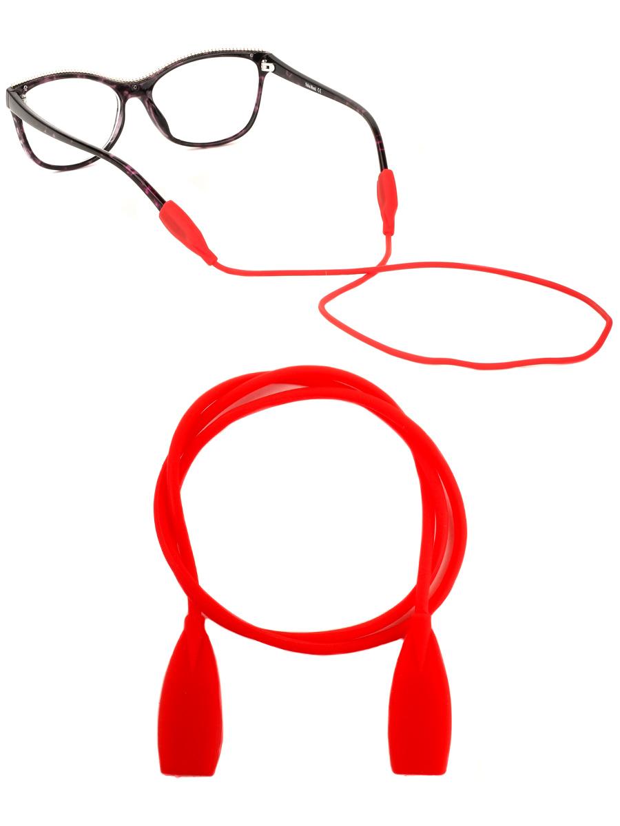 Шнурок силиконовый для очков №3 Красный