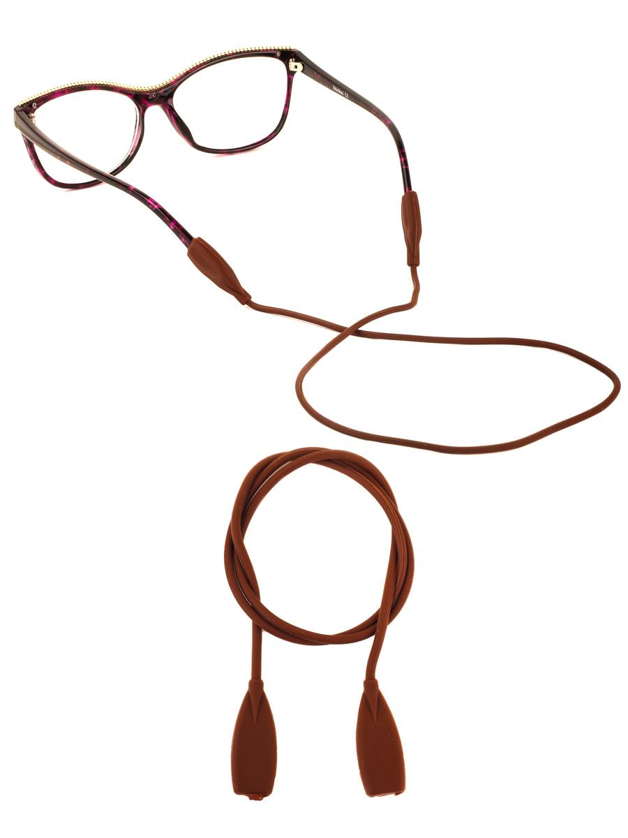 Шнурок силиконовый для очков №3 Коричневый