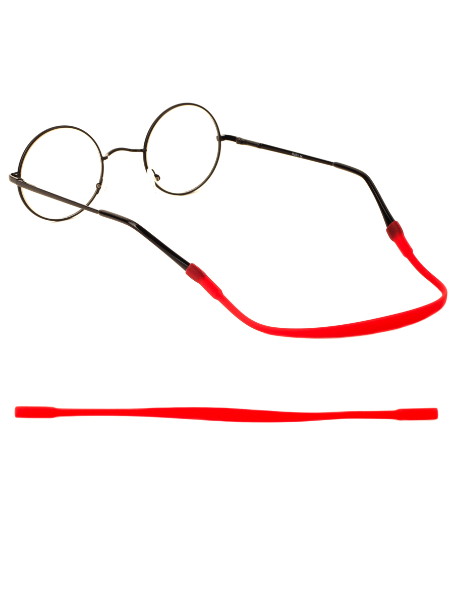 Шнурок силиконовый для очков №2 Красный