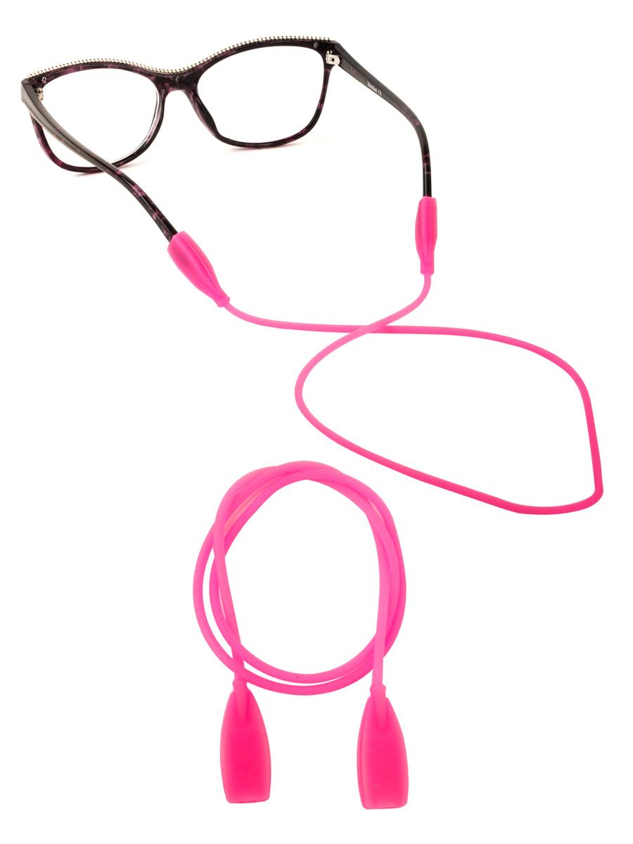 Шнурок силиконовый для очков №3 Темно-розовый